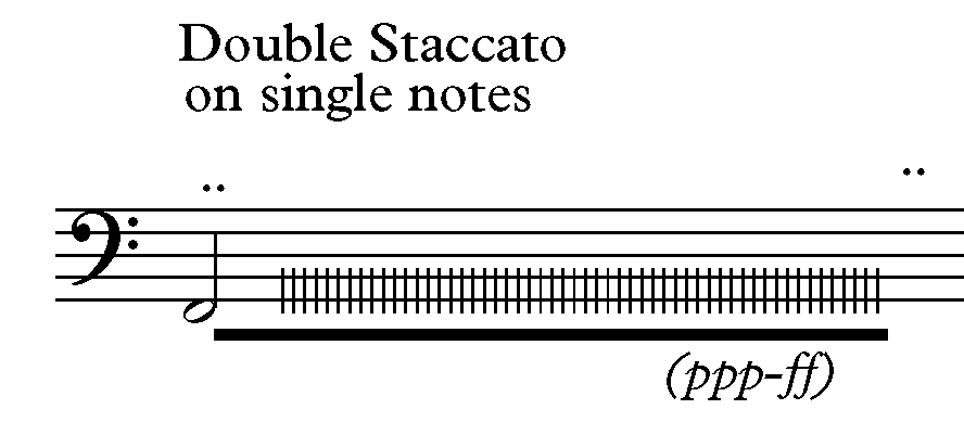 Double staccato F N