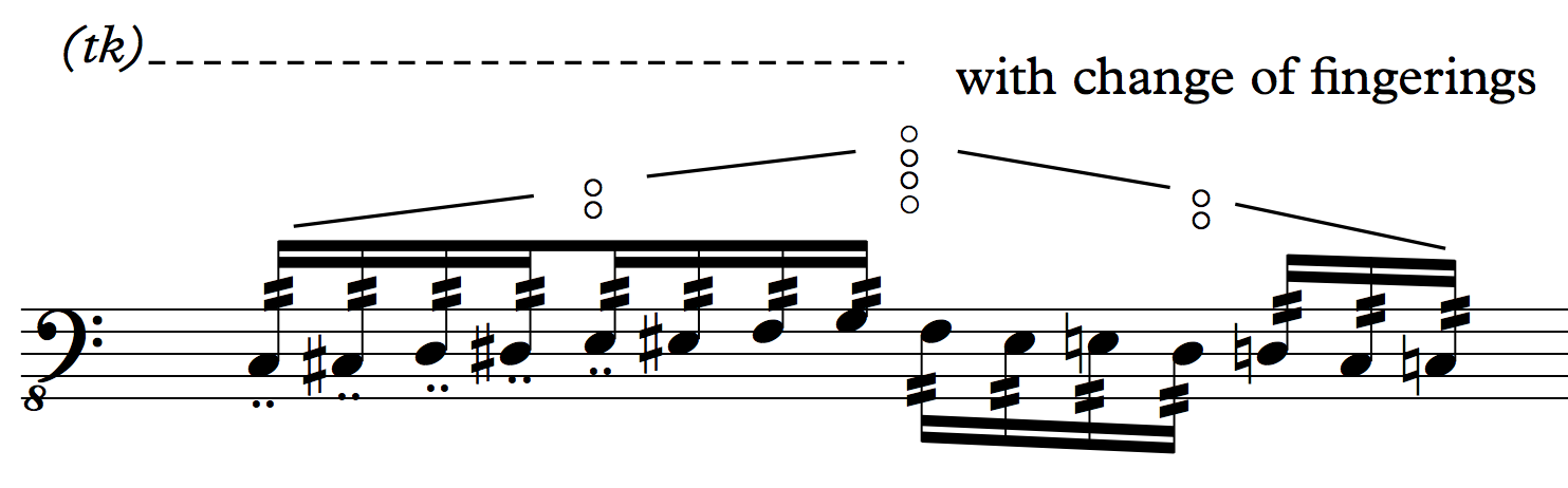 Double staccato overblow C-E2 N